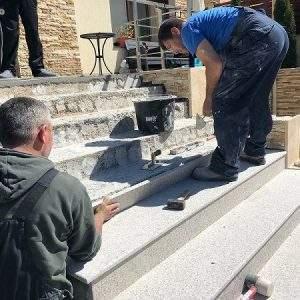 montaj trepte granit exterior